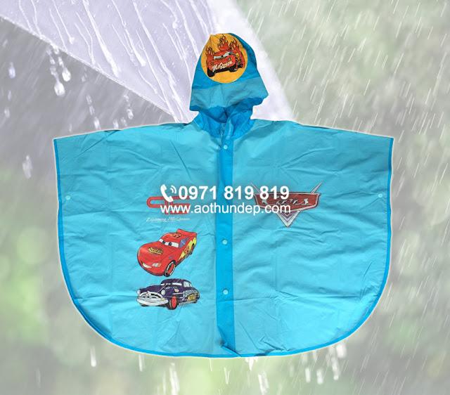 in logo áo mưa trẻ em