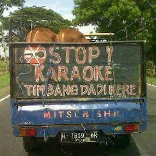 tulisan dan gambar bak truk paling lucu kreatif