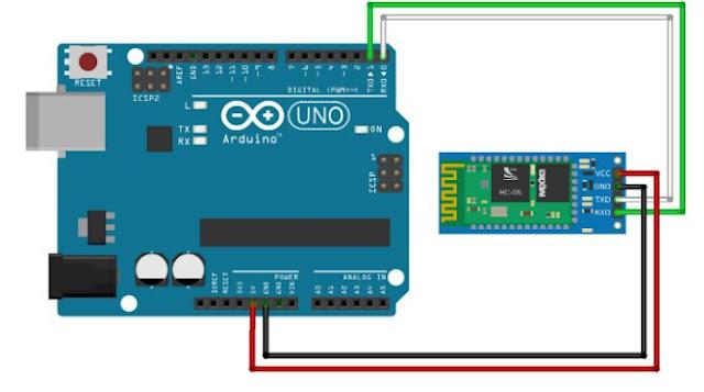 interface Bluetooth module HC-05 with Arduino