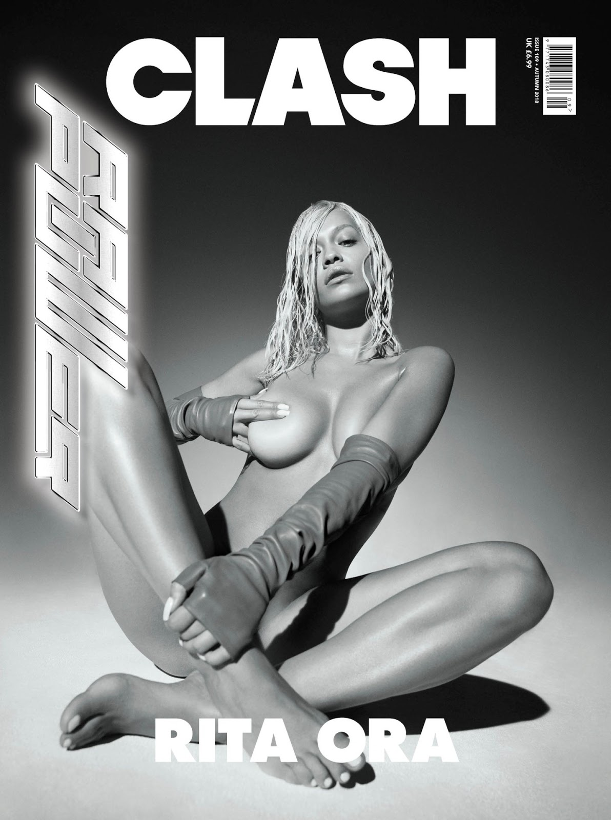 Rita Ora goes naked for Clash Magazine