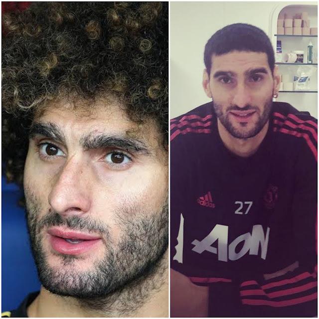 Man United's Fellaini Has A New Hairstyle - Photos