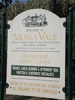 Homestead sign as of February 2013 - Mona Vale, Christchurch, New Zealand