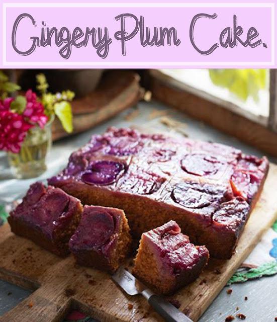 Purplish Gingery Plum Cake Recipe