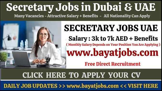 Secretary Jobs in Dubai & UAE Latest Vacancies