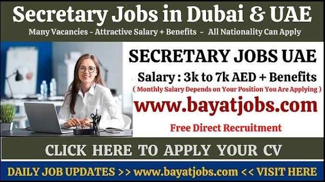 Secretary Jobs in Dubai & UAE Latest Vacancies ( May 2021 )