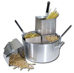 Winware 20 Qt Aluminum Pasta Cooker
