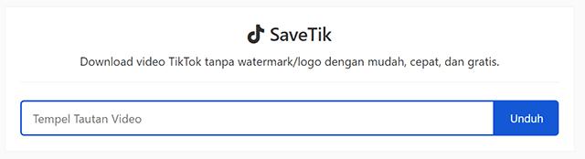 Cara Download Video TikTok Tanpa Aplikasi Secara Online SaveTik