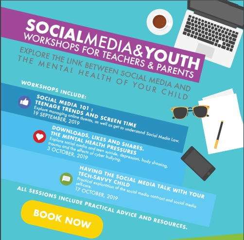 Social Media and Youth Workshops - Think Ahead poster