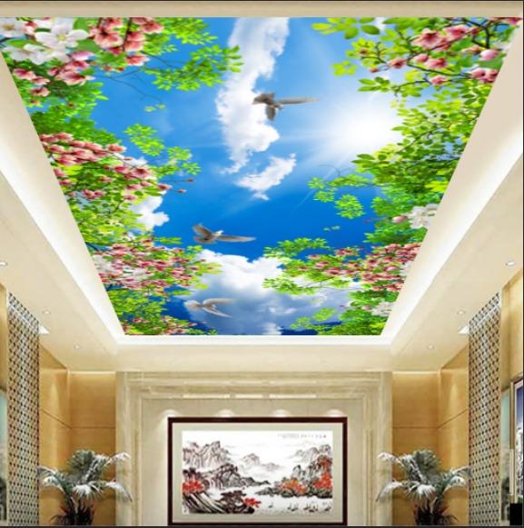 gambar awan yang bagus dengan bunga keren