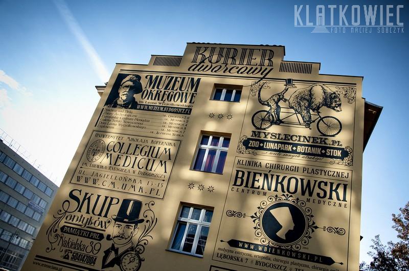 Bydgoszcz. Retro ściana.