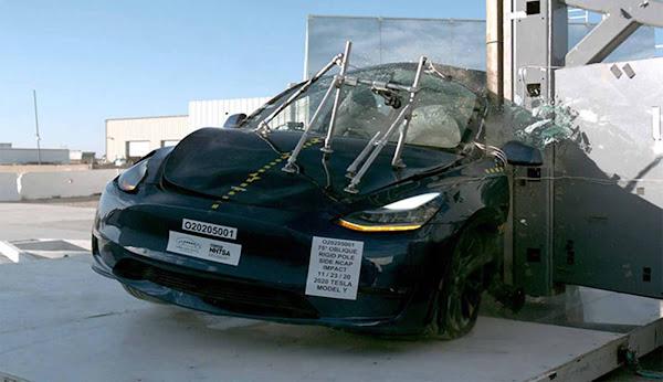 Tesla Model Y obtém 5 estrelas em crash test do NHTSA