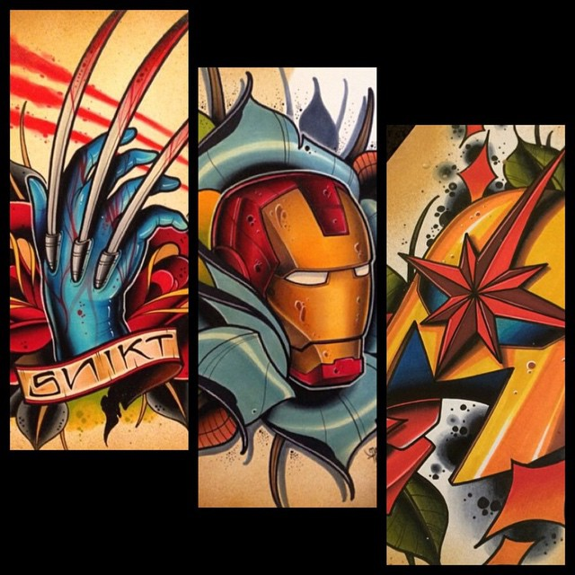 marvel, wolverine, iron man