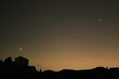 Júpiter i Saturn des de l'ermita de Sta Magdalena - 13/06/2021 02:13