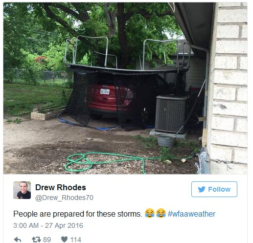 See What United States Residents Are Doing To Protect Their Cars From Hailstones