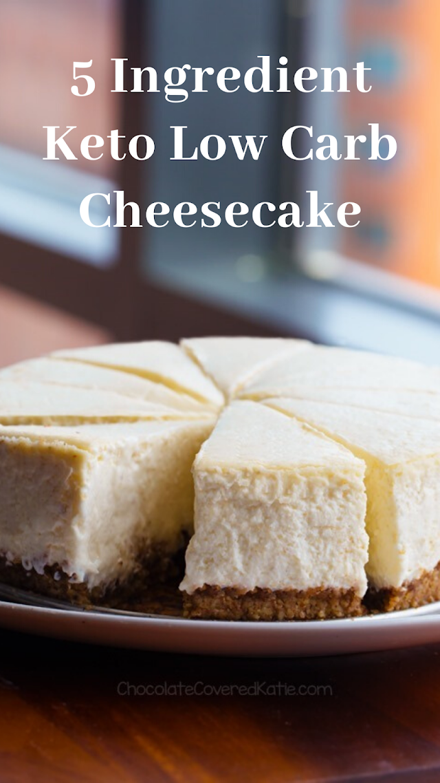 5 Ingredient Keto Low Carb Cheesecake