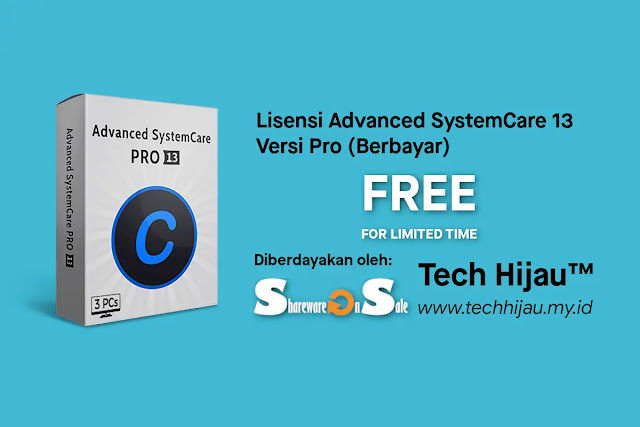 Klaim Lisensi Advanced SystemCare 13 Pro Gratis di SharewareOnSale