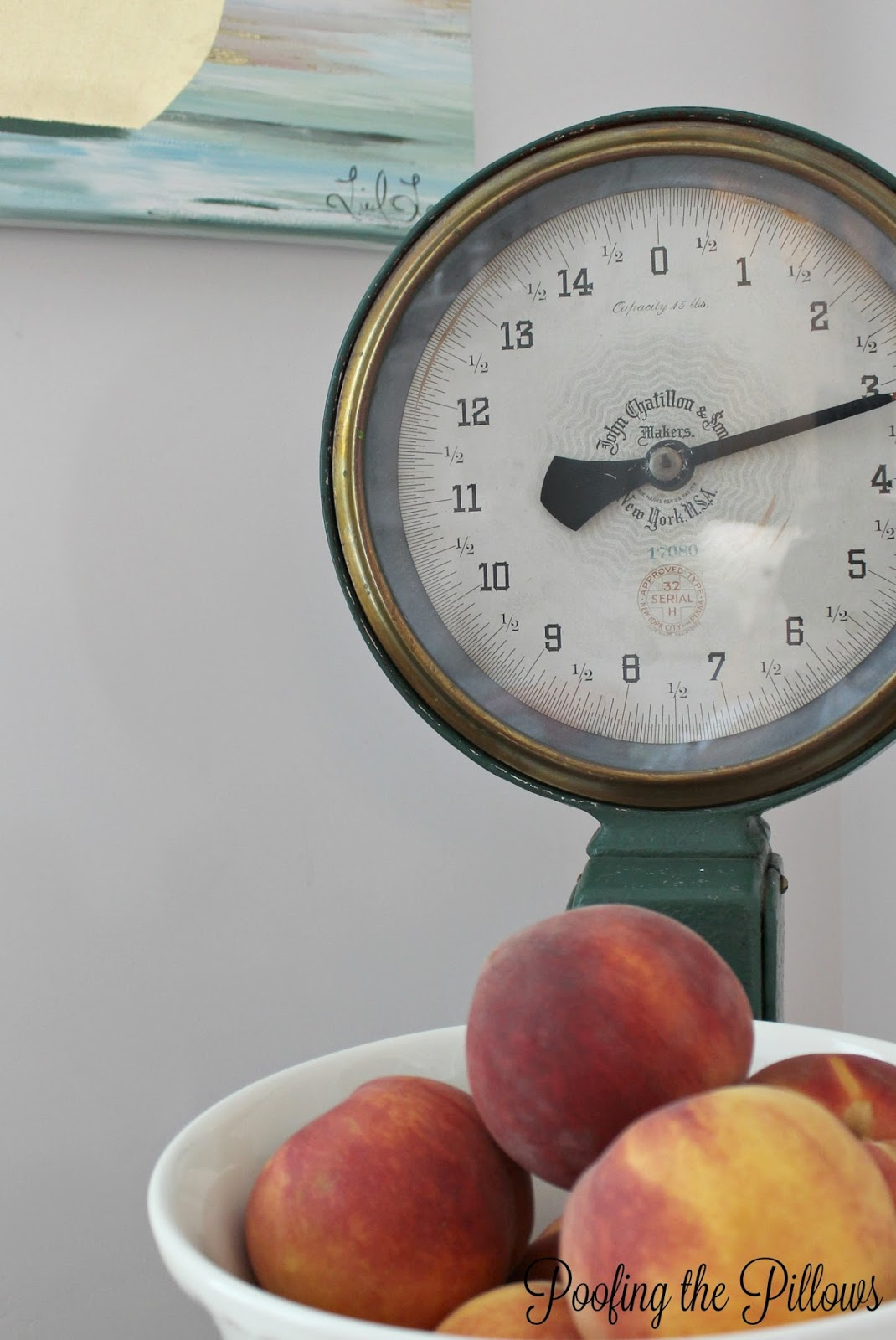 Quick and easy fall decor, antique kitchen scale for fall