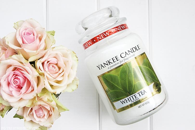 duża świeca zapachowa yankee candle white tea