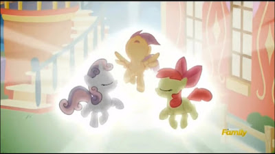 The Cutie Mark Crusaders about to receive their cutie marks