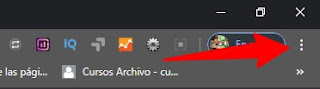 Menú de Google Chrome