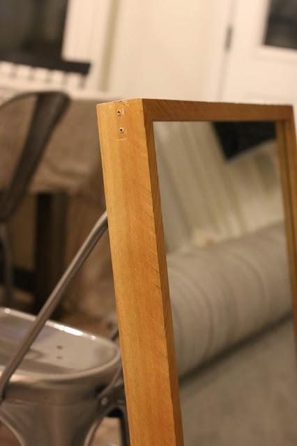 Staining a Waxed Pine Mirror to make it look lighter, brighter, and less orange!