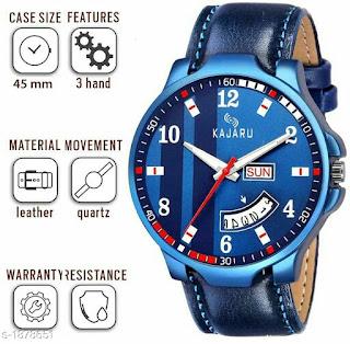 Fashionable Men's Unique Leather Analog Watches Vol 5