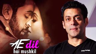 Salman Khan and Ae Dil Hai Mushkil poster