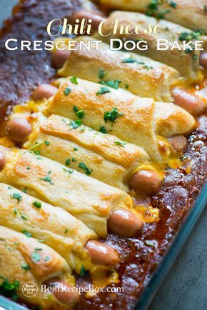 CHILI CHEESE CRESCENT HOT DOG BAKE