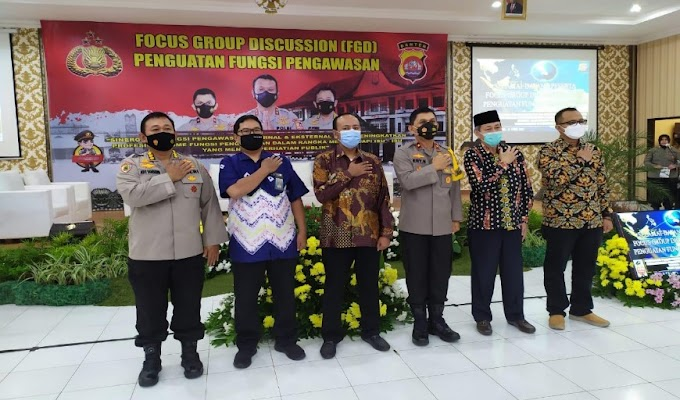 Kepala Ombudsman Banten Beri Penguatan Fungsi Pengawasan Itwasda Polda Banten