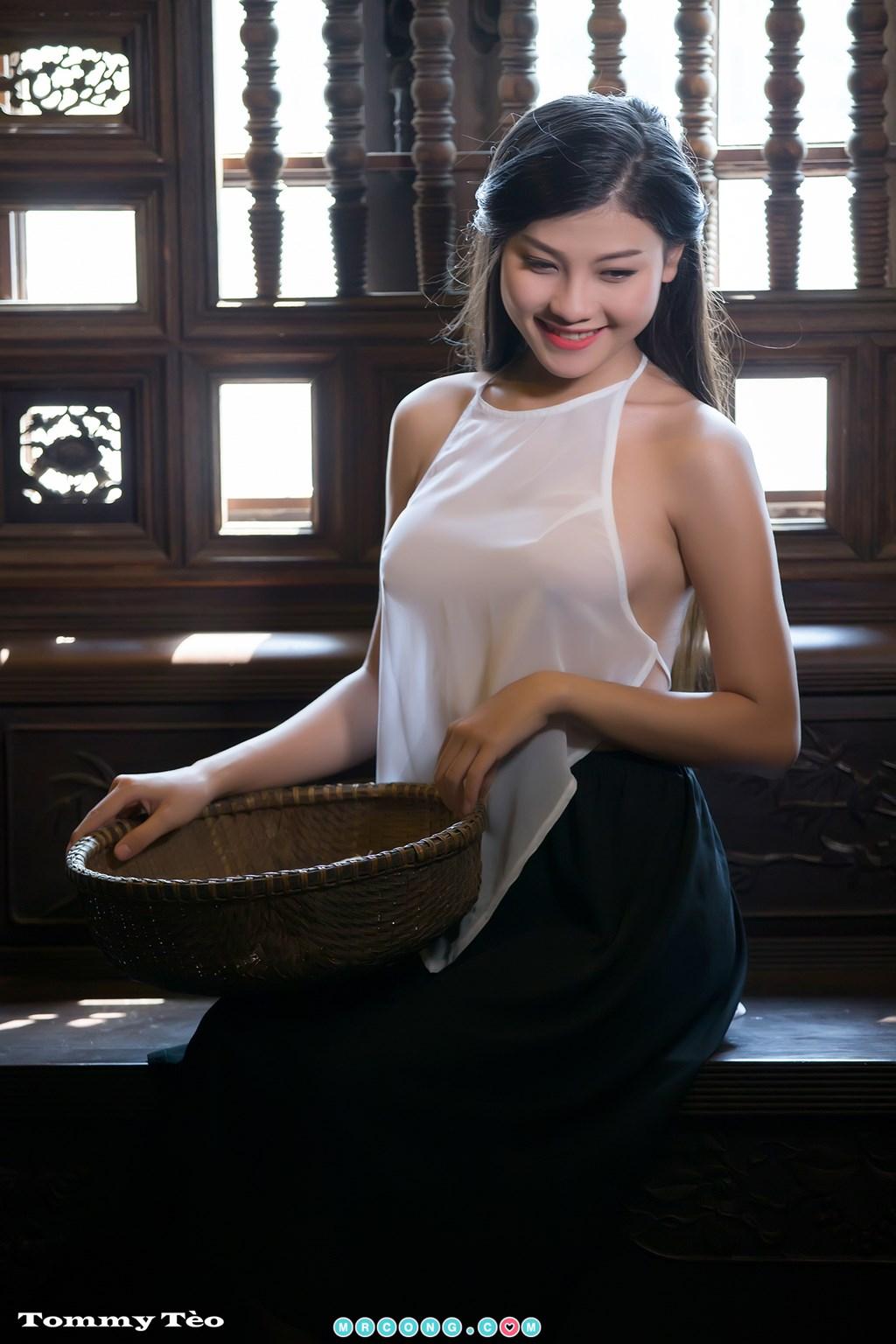 Image Nhung-Nguyen-by-Dang-Thanh-Tung-Tommy-Teo-MrCong.com-002 in post Nóng cả người với bộ ảnh thiếu nữ thả rông ngực mặc áo yếm mỏng tang (19 ảnh)