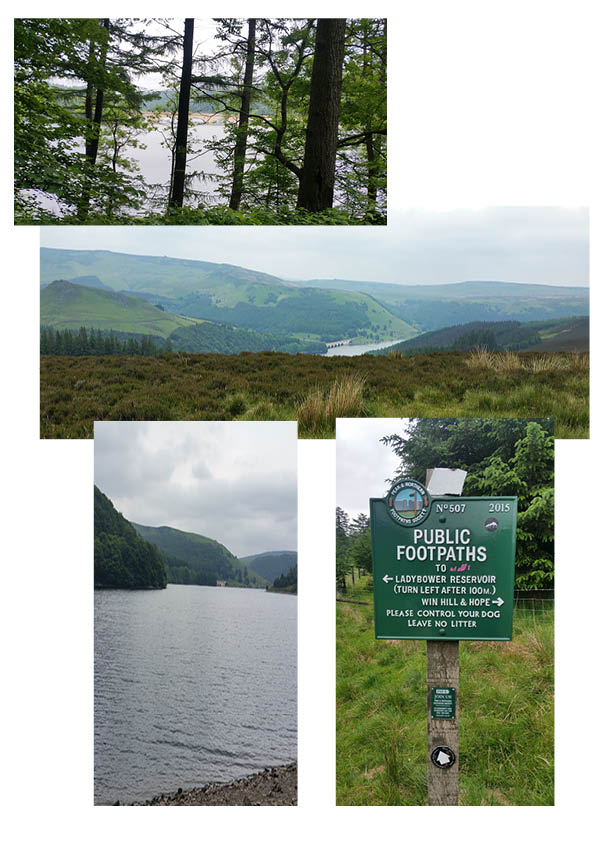 Bridges across Ladybower and over the river Derwent - and a climb