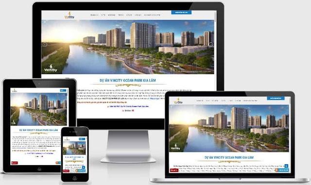 Template blogspot bất động sản Vincity Gia Lâm chuẩn SEO - Ảnh 1