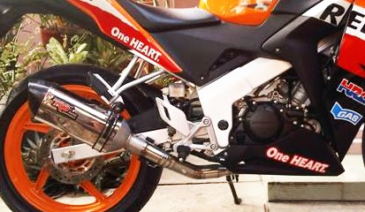 Honda CBR 250 dan CBR 150 Lokal Harga Knalpot Racing Terbaru 2015