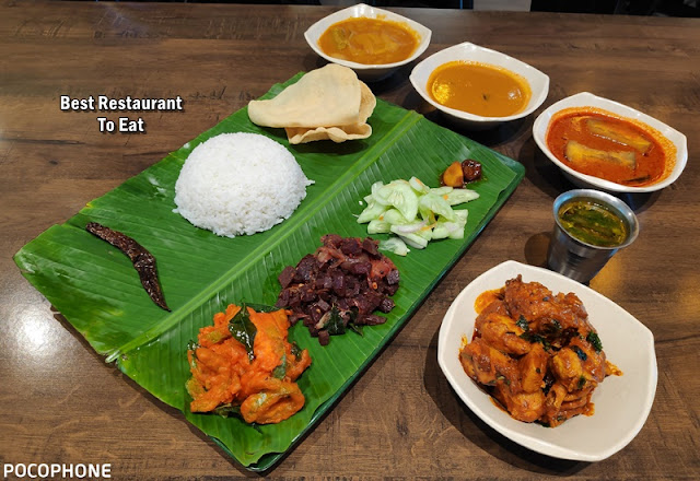 Banana Leaf Rice Chicken Varuval Set