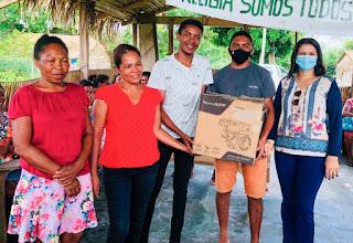 Prefeitura de Turilândia entrega motores com rabeta para pescadores