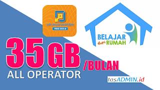 Kuota Internet Gratis Pemerintah  35GB