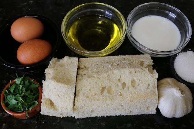 Ingredientes para huevos tontos