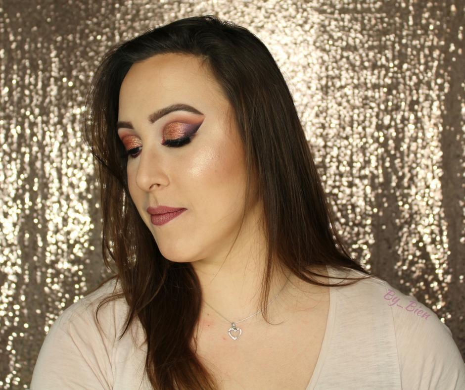 Makijaż cut crease złoto, bordo i fiolet NABLA Dreamy
