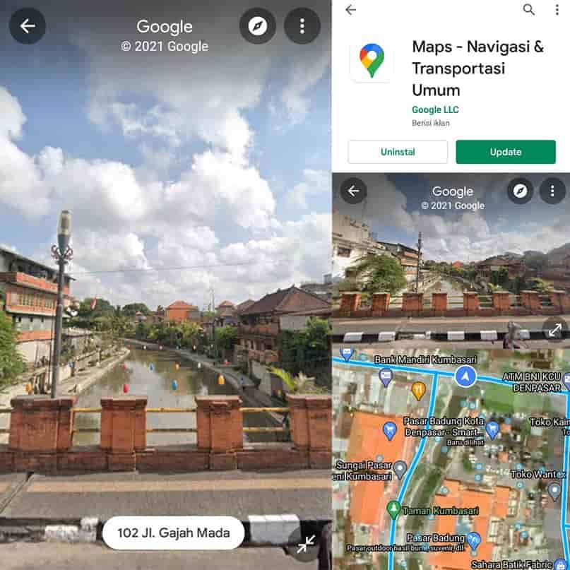 cara melihat rumah di google maps android