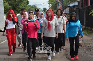 Novita Hardini Ikuti Jalan Sehat Bersama Masyarakat Gandusari