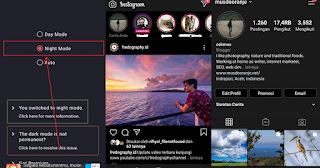 Cara Instagram Dark Mode