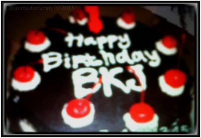 Kue ulang tahun jathilan Bekso Kyai Janti