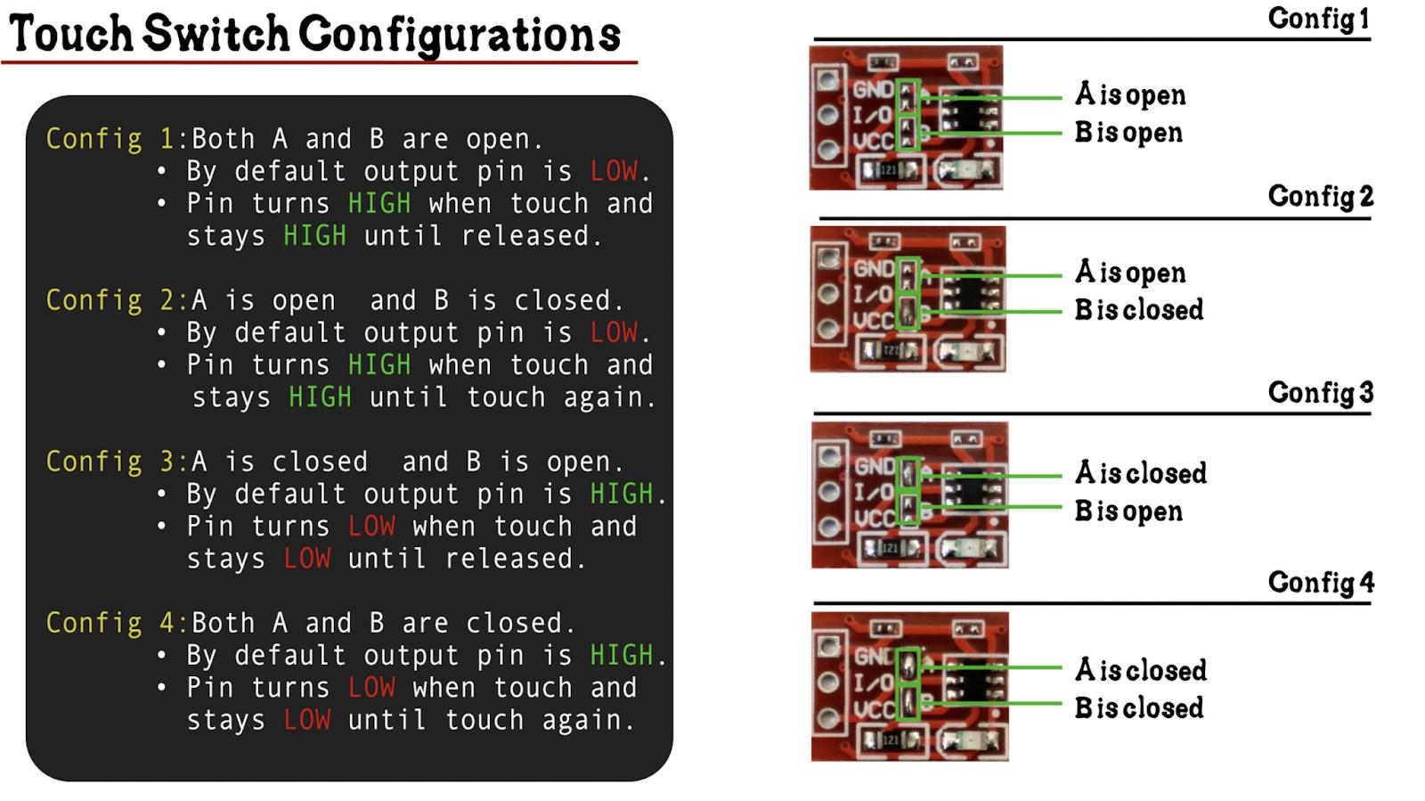 ttp223 configurations