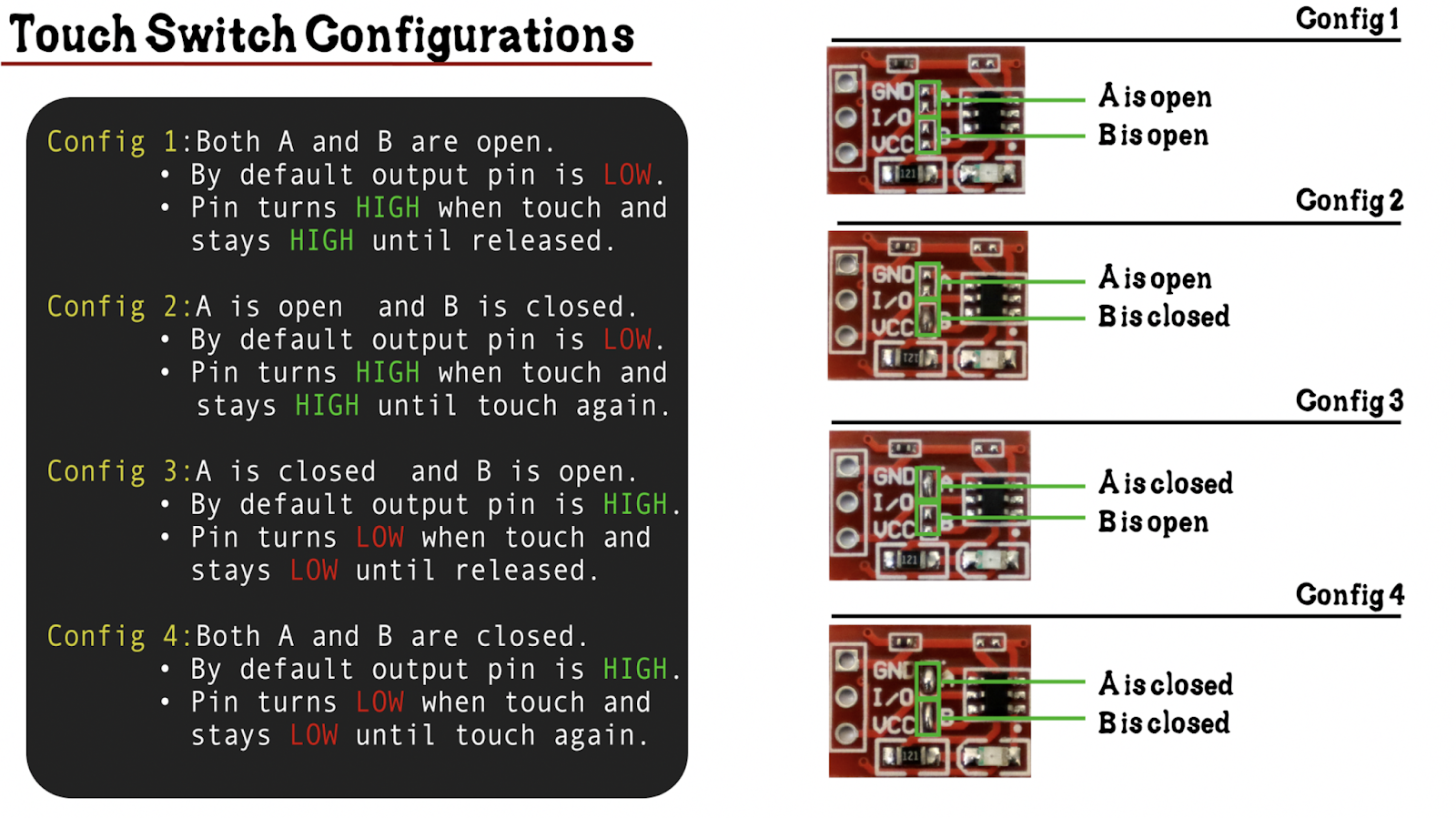 ttp223 touch switch configuration