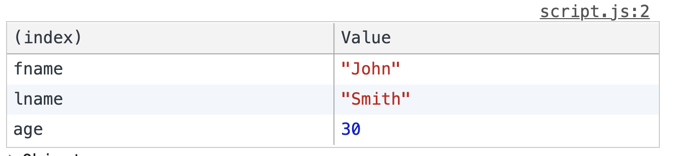 console.table 2