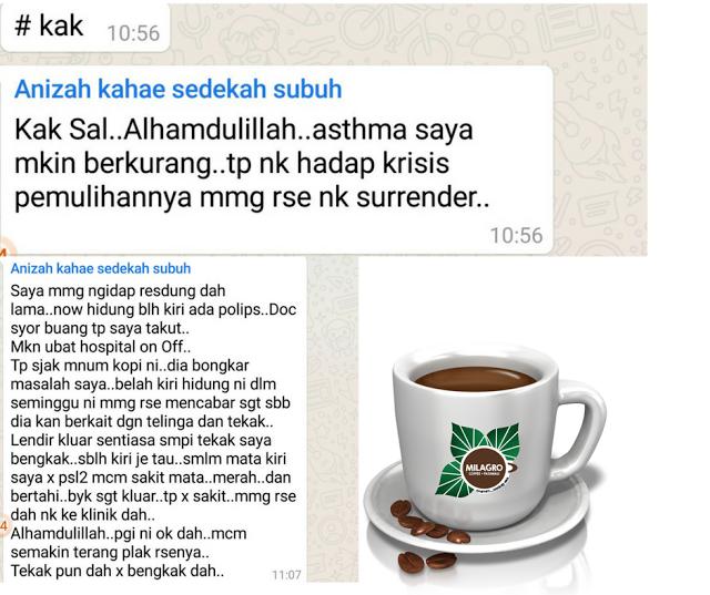 milagro coffee minuman kesihatan,milagro malaysia