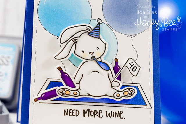 "Some""Bunny"" Needs More Wine Card ft. Honey Bee Stamps"