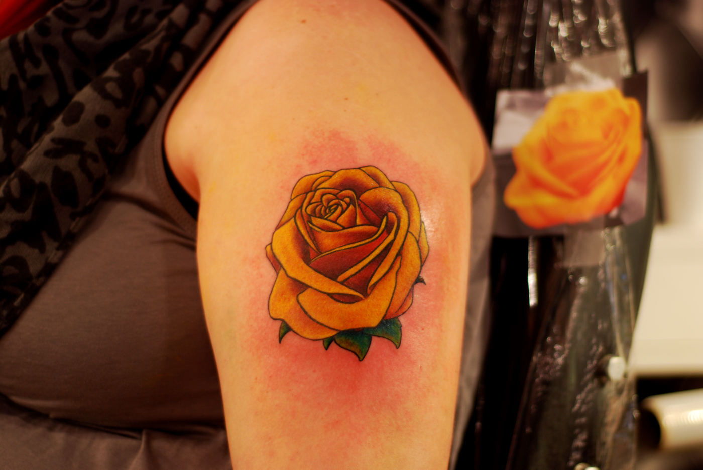 1887Tattoos: Yellow Rose Tattoos