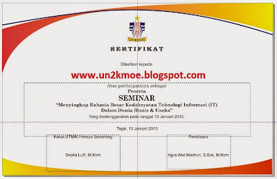 download contoh format blangko sertifikat seminar gratis bisa diedit filetype: cdr