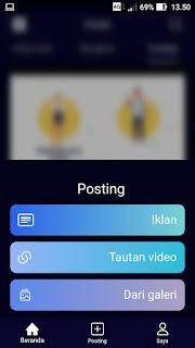 Cara Posting Video Gambar di Aplikasi vTube Terbaru
